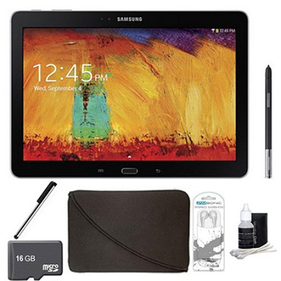 Galaxy Note 10.1 Tablet 2014 Edition (32GB, WiFi, Black) 16 GB Accessory Bundle