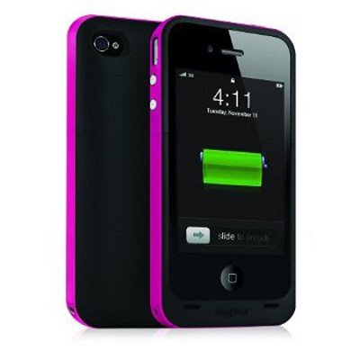 Juice Pack Plus Rechargeable Battery and Case for iPhone4 (Magenta)