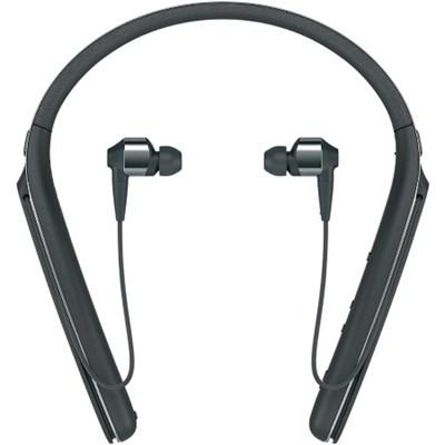WI1000X/B Noise Canceling Wireless Behind-Neck In Ear Headphones, Black