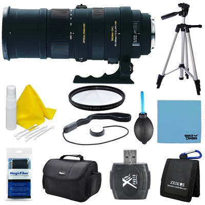 150-500mm F/5-6.3 APO DG OS HSM Autofocus Lens For Canon EOS Lens Kit Bundle