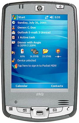 iPAQ hx2495B Pocket PC w/ Windows Mobile 5.0 - Now with 256mb Total Memory!