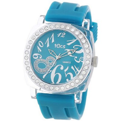`Crystal 8` Analog Watch Turquoise with Crystals - 40314