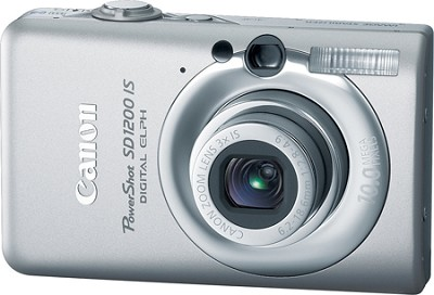 Powershot SD1200 IS 10MP Digital ELPH Camera (Silver) - REFURBISHED
