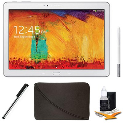 Galaxy Note 10.1 Tablet - 2014 Edition (32GB, WiFi, White) Plus Accessory Bundle