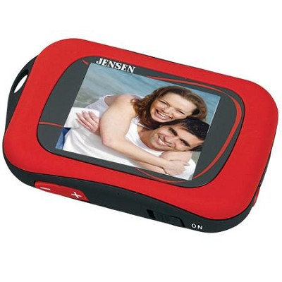 SMPV-1GBS 1 GB Digital Media Player with 1.8-Inch TFT Color Display (Red)