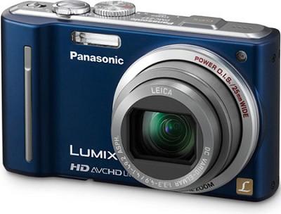 DMC-ZS7A LUMIX 12.1 MP Digital Camera w/ 16x Intelligent Zoom (Blue) REFURBISHED