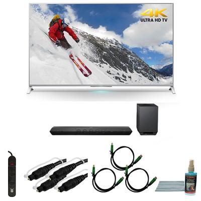 XBR-65X800B 65-inch 4K Ultra HD Smart LED TV Motionflow HT-ST7 Sound Bar Bundle