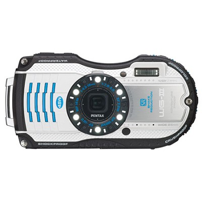 WG-3 16MP White  Waterproof Shockproof Crushproof Digi Cam OPEN BOX