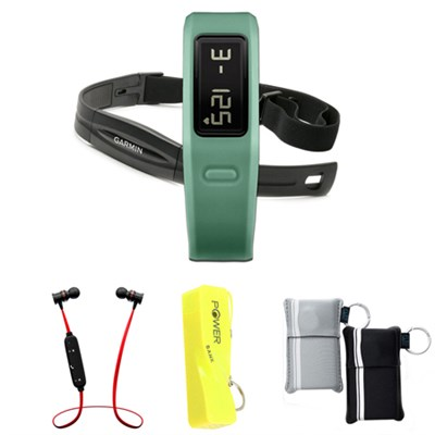 Vivofit Fitness Band Bundle with Heart Rate Monitor (Teal) w/ Power Bank Bundle
