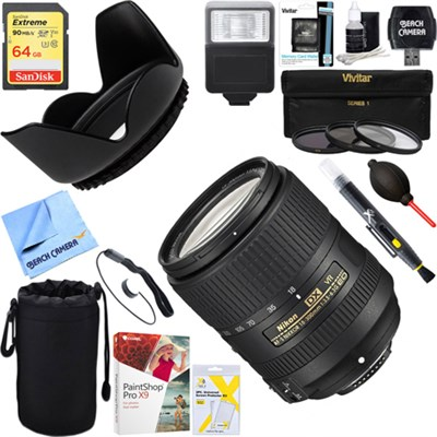 AF-S DX NIKKOR 18-300mm f/3.5-6.3G EDVR Lens New Release+64GB Ultimate Kit