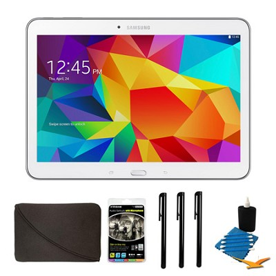 Galaxy Tab 4 White 16GB 10.1` Tablet and Case Bundle