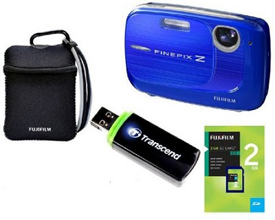FINEPIX Z37 10MP Blue Digital Camera & 2GB Memory, Reader and Case