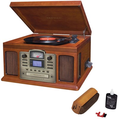 Director CD Recorder w/Cassette & Record Player Paprika w/Record Cleaner
