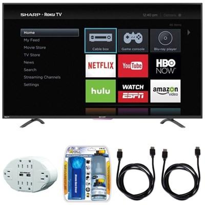 N4000 Full HD 55` Class WiFi Roku 60Hz LED Smart TV w/ Hook up Bundle