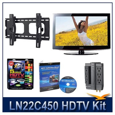 LN22C450 - 720p HDTV + Hook-up Kit + Power Protection + Calibration + Tilt Mount