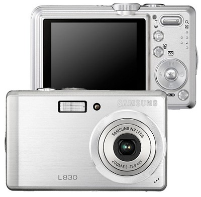 Digimax L830 8.1 MP Digital Camera (Silver)