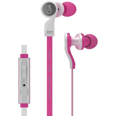 EDM Universe D1P In-Ear Headphones with Headset Functionality (Love/Pink)