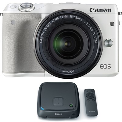 EOS M3 24.2MP Mirrorless Camera w/ EF-M 18-55mm Lens + 1TB CS100 Storage Hub