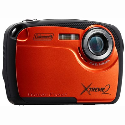 16MP Waterproof Digital Camera with 2.5` LCD Screen HD Video (Orange) C12WP-O