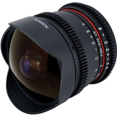 8mm T3.8 HD Cine Lens for Micro Four Thirds Mount with Removable Hood - OPEN BOX
