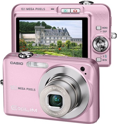 Exilim EX-Z1080 10.1MP Digital Camera with 2.6` LCD (Pink)
