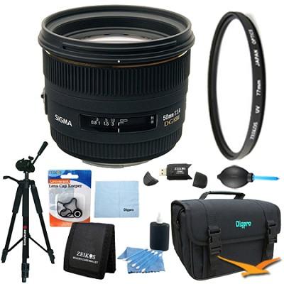 50mm F1.4 EX DG HSM Lens for Canon EOS Lens Kit Bundle