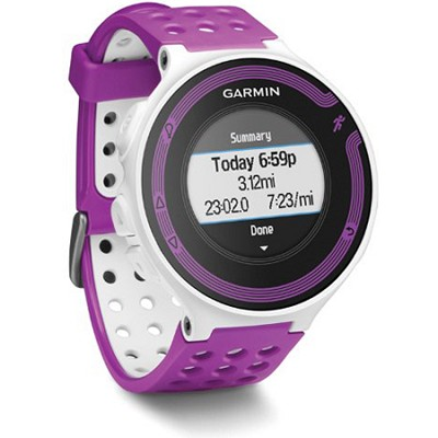 Forerunner 220 White/Violet Bundle with Heart Rate Monitor