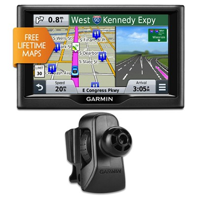 nuvi 58LM 5` Essential Series 2015 GPS System wLifetime Maps Vent Mount Bundle