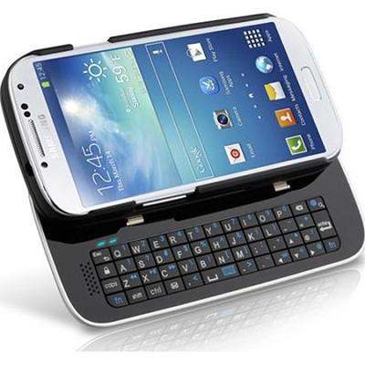 12556 Sliding Bluetooth Keyboard Case for Samsung Galaxy S4 - Black