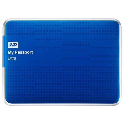 My Passport Ultra 500GB USB 3.0 Portable Hard Drive - WDBPGC5000ABL-NESN (Blue)
