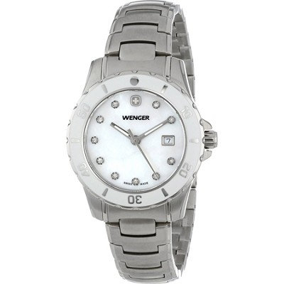 Ladies' Sport Watch - White Mother-of-Pearl Dial/Stainless Steel Bracelet
