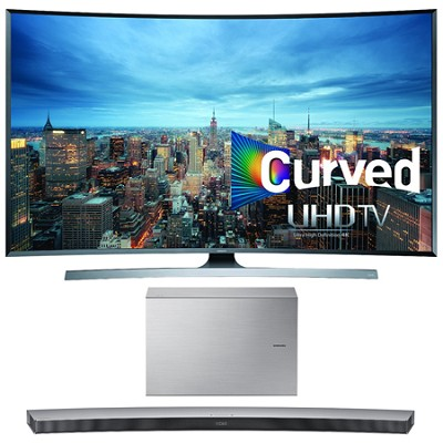 UN55JU7500 - 55-Inch 2160p 3D Curved 4K UHD Smart TV w/ HW-J7501 Soundbar Bundle