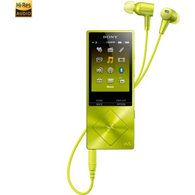 NWA26HN 32GB Hi-Res Walkman Digital Music Player with Noise Cancelation - Yellow