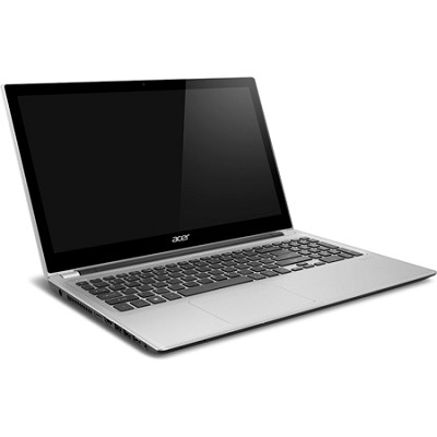 Aspire V5-571PG-9814 15.6` Touchscreen Notebook PC- Intel Core i7-3537U (Silver)