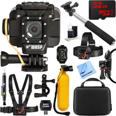 WASPcam 9905 Wi-Fi Action Camera 32GB Outdoor Mount Kit