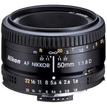 50mm F/1.8 D AF FS-52 Lens - FACTORY REFURBISHED