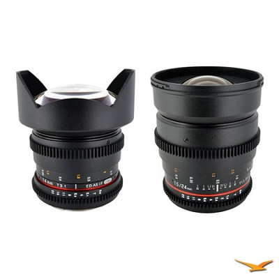 Sony E-Mount 2 Cine Lens Kit (14mm T3.1, 24mm T1.5)