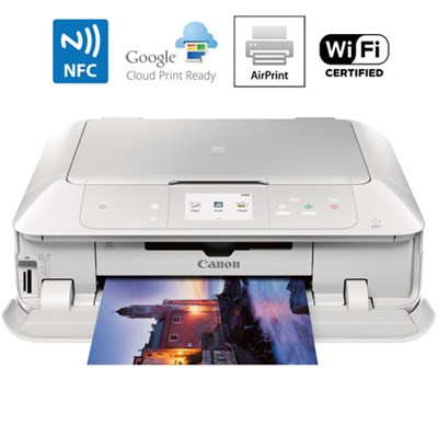 MG7720 Printer Scanner & Copier with Wi-Fi Airprint & Cloud Print Ready (White)