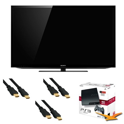 KDL55HX750 55 inch 3D Wifi XR 480hz LED HDTV + PlayStation 3 Bundle