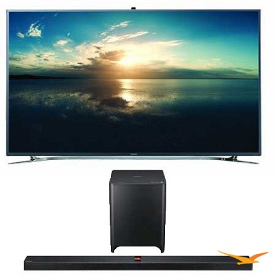 UN65F9000 65-Inch 4K Ultra HD 120Hz 3D Smart TV+ HW-F850 Soundbar Bundle