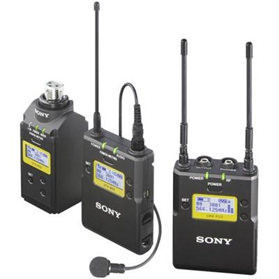 Lavalier Microphone Wireless System w/ Bodypack TX, Plug-On TX & Portable RX