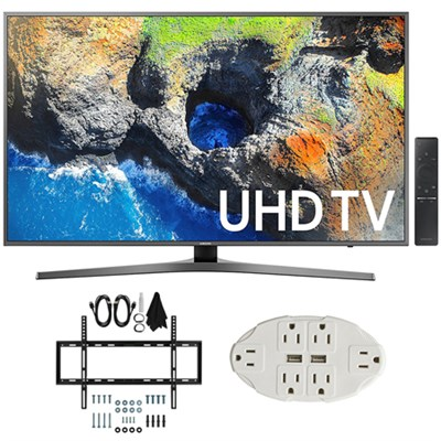 54.6` 4K Ultra HD Smart LED TV (2017 Model) w/ Wall Mount Bundle