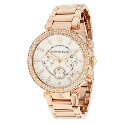 Parker Rose Gold-Tone Women's Watch- MK5491
