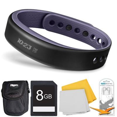vivosmart Bluetooth Fitness Band Activity Tracker - Large - Purple Deluxe Bundle