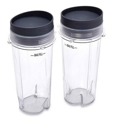 2 24oz Nutri Ninja Cups w Lids