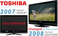 42HL67 - 42` High-definition LCD TV (changed to the 42AV500 current 2008 model)