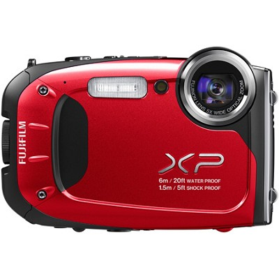 FinePix XP60 16 MP Waterproof Shockproof Freezeproof Digital Camera - Red