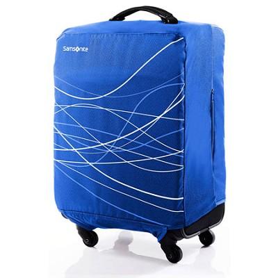 Foldable Luggage Cover, Medium - Blue