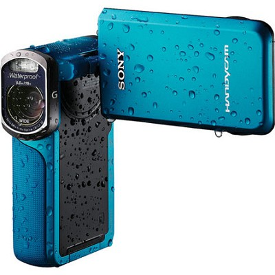 HDR-GW77V/L HD 20.4 MP Waterproof, Shockproof Camcorder (Blue) OPEN BOX