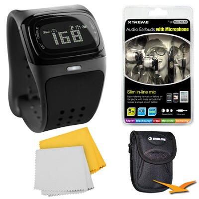 Alpha BLE Black Continuous Heart Rate Sport Watch Bundle